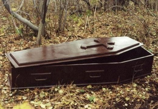 открытый гроб пустой