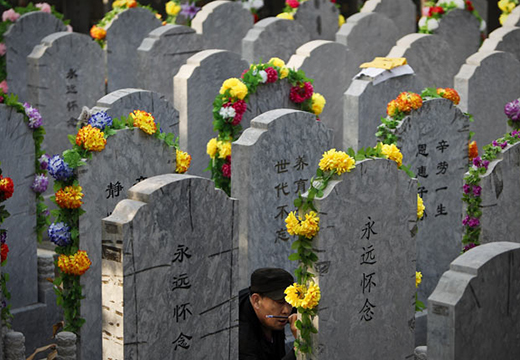 Могилы в Китае