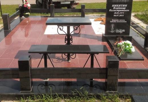 гранитная плитка на могилу