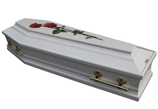 Гроб белого цвета